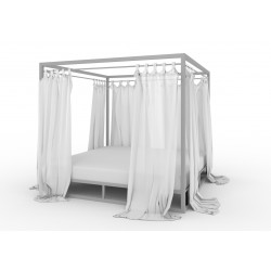 Olimp 140x200 with canopy and relings