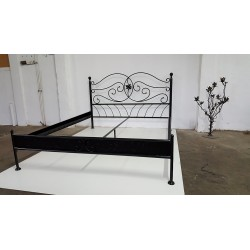 Aleksandra 120x200 with low footboard with blind